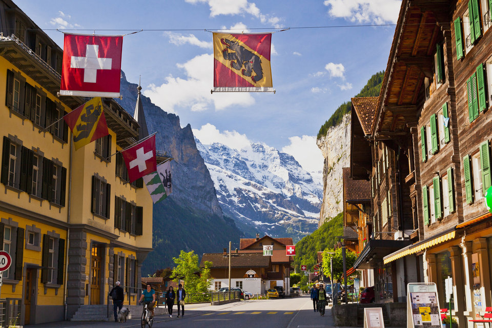 Europe, Switzerland, Lauterbrunnen, view of village (Photo by: JTB Photo/UIG via Getty Images)