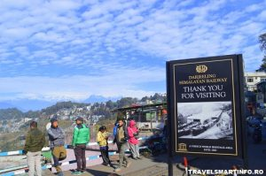 Darjeeling Himalayan Railway - vedere din gara