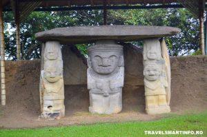 Parcul Arheologic San Agustin - statui antropomorfe