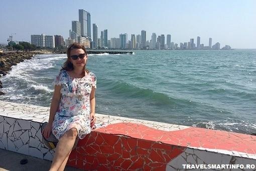 Cartagena - vedere catre Bacagande de la intrarea in oras
