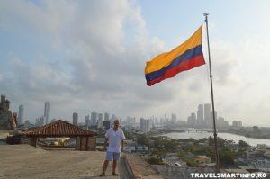 Castelul San Felipe de Barajas - vedere asupra orasului