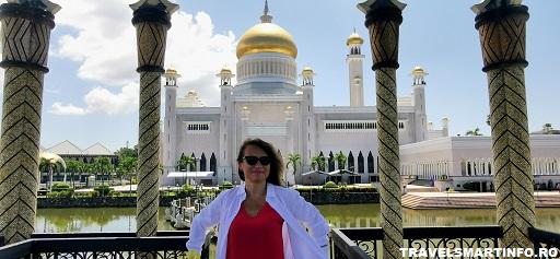 Moscheea Omar Ali Saifuddien. Gradinile.