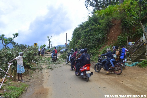 In drum catre Munnar - sosea blocata