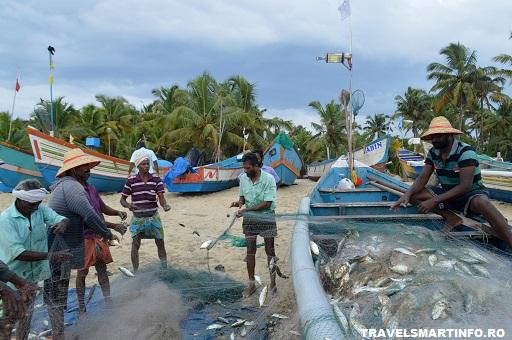 Marari beach - la pescuit