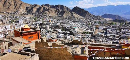 Leh Palace - vedere asupra orasului Leh