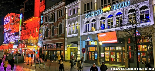 St. Pauli. Strada Reeperbahn