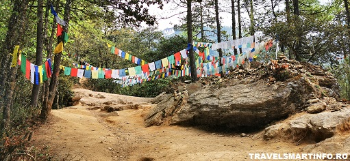 Drumul catre Manastire - prayer flags