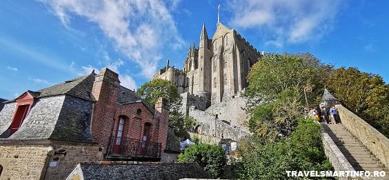 Mont Saint Michel Abbey - vedere din cetate