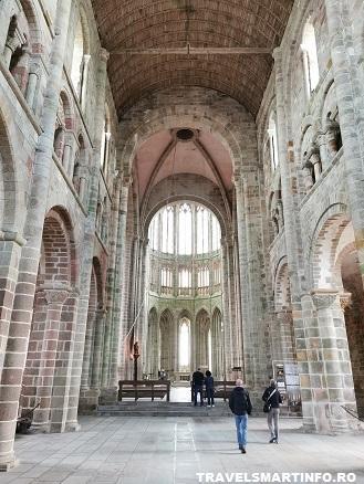 Mont Saint Michel Abbey - interior Catedrala